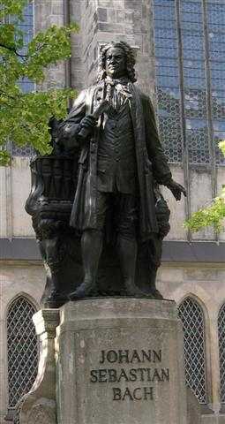 Estatua de Johann Sebastian Bach en Leipzig.