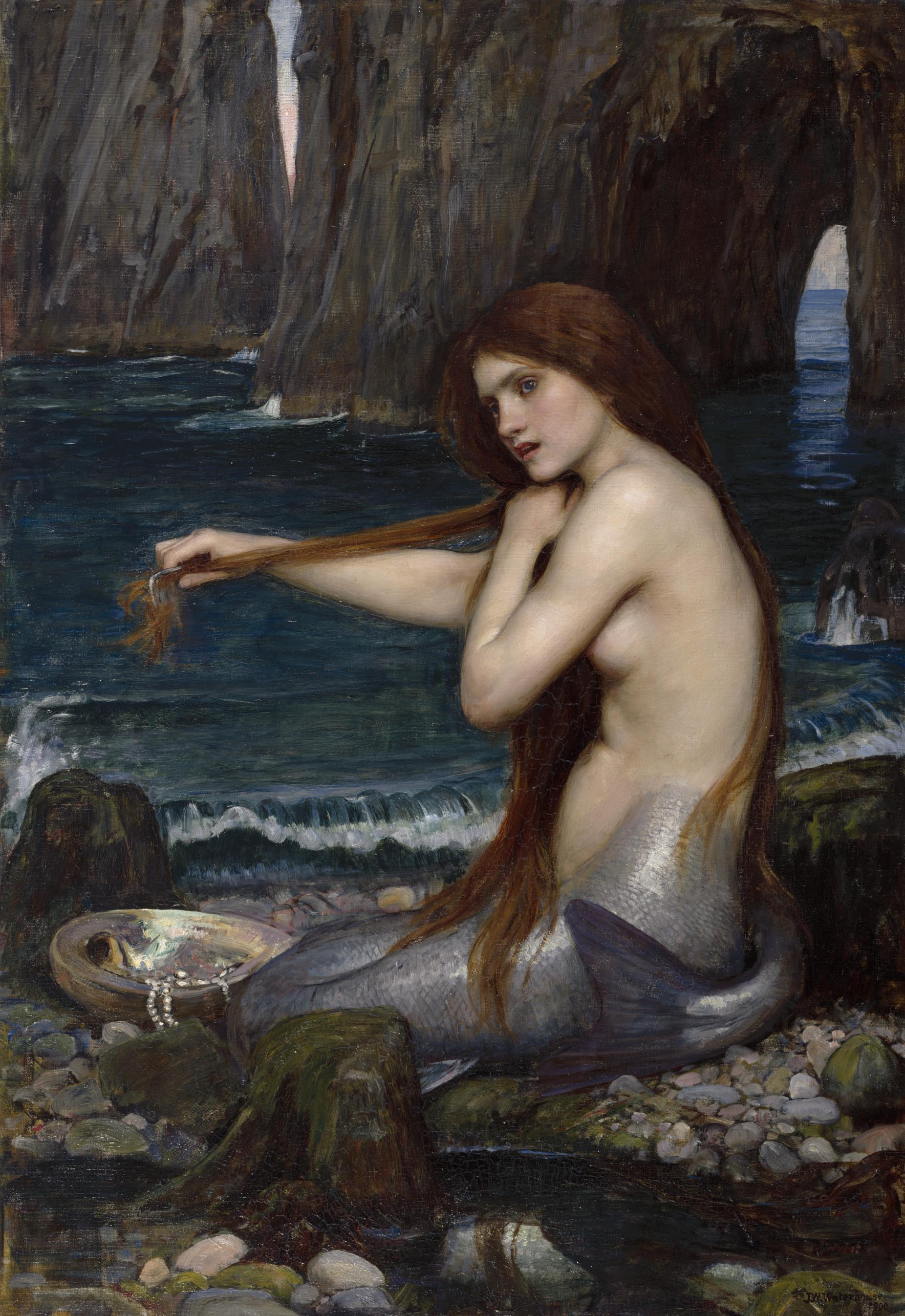 Image result for John William Waterhouse mermaid
