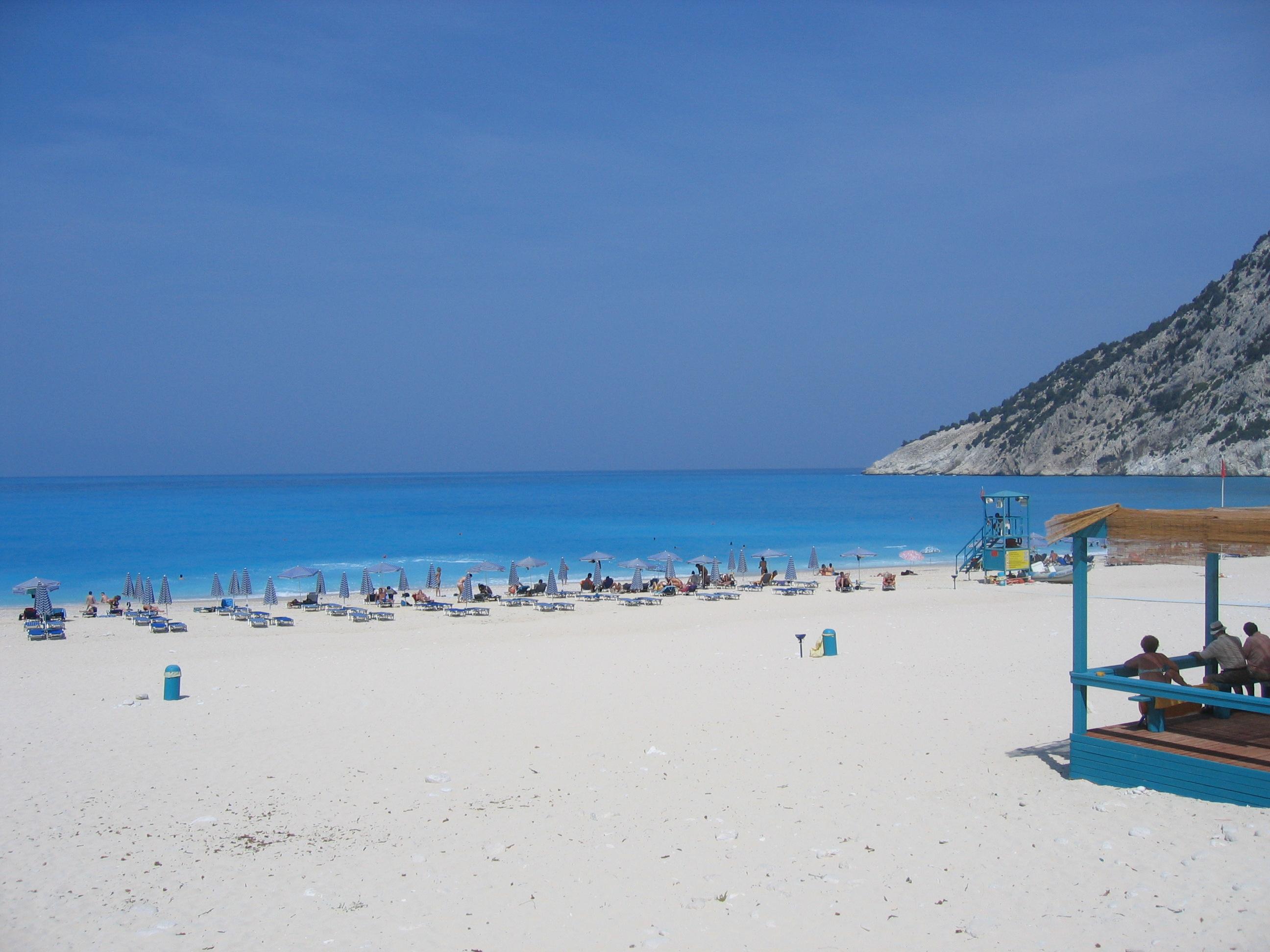 English: Myrtos Beach, Kefalonia. Greece. The ...