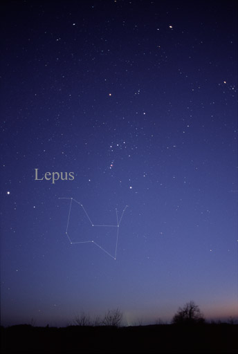 Lepus constellation image-skymap