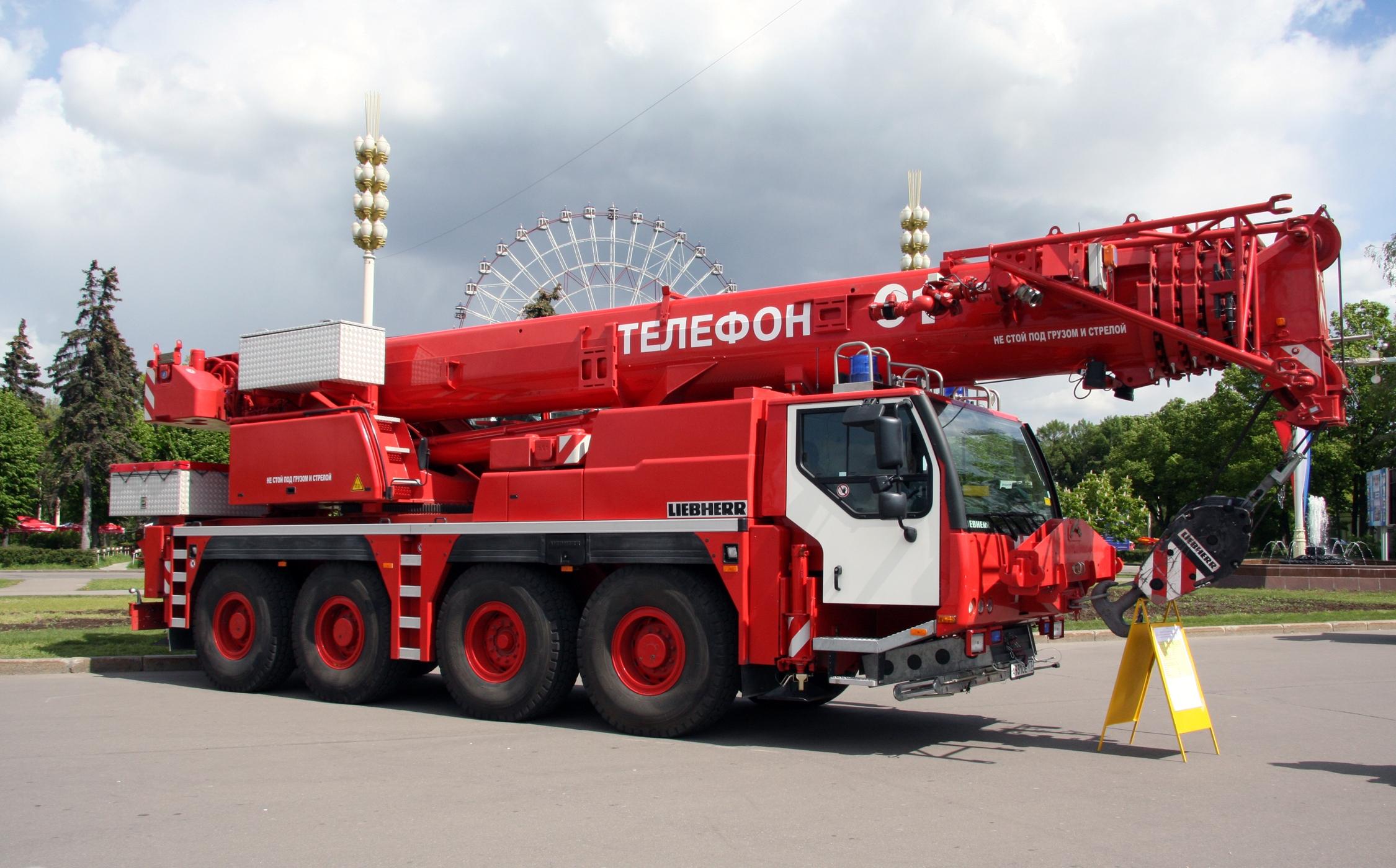 File Liebherr Crane Truck In Russia Jpg Wikimedia Commons