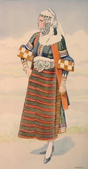 Macedonia Greek Costume Asvestochori