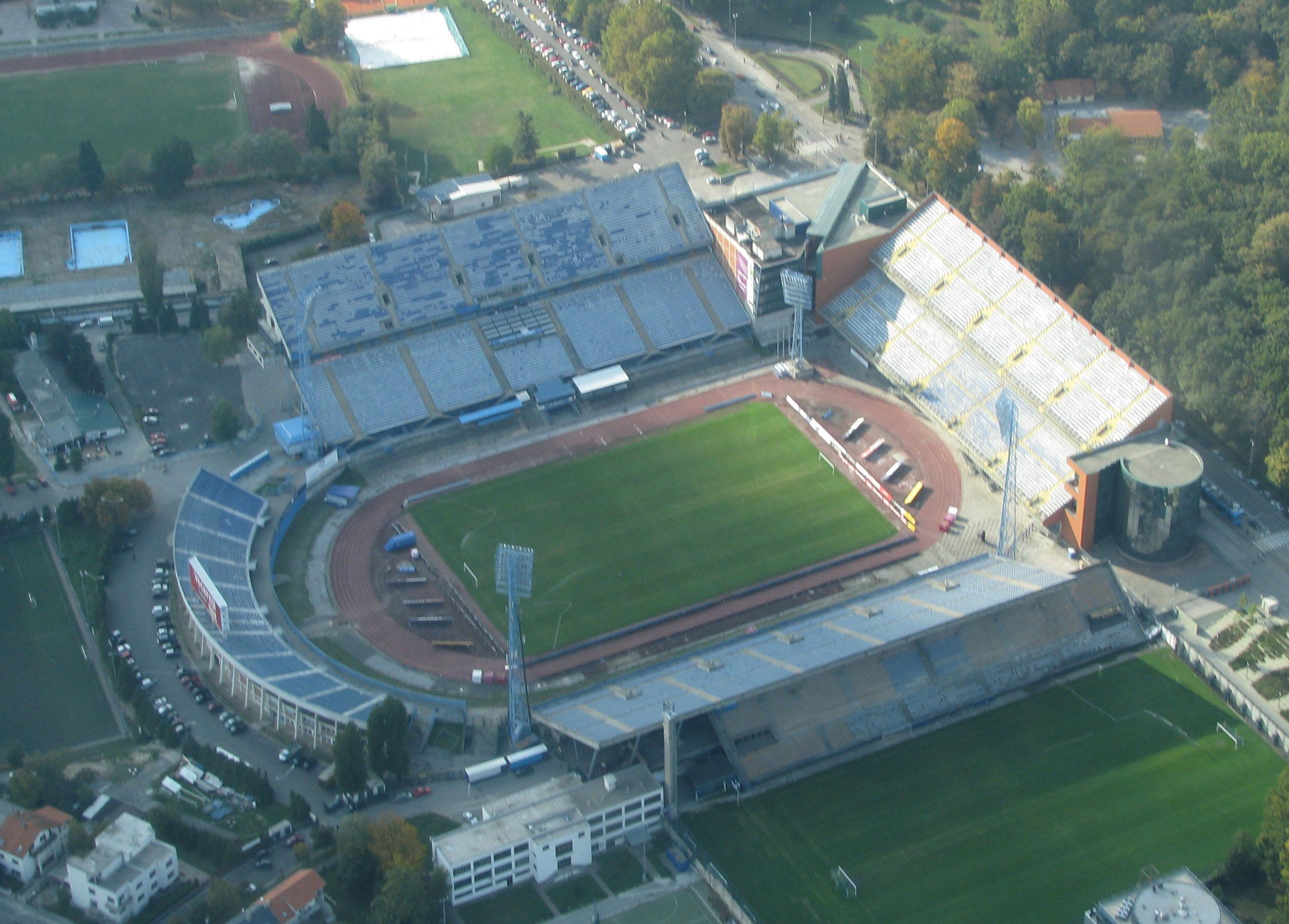 Depiction of Estadio Maksimir
