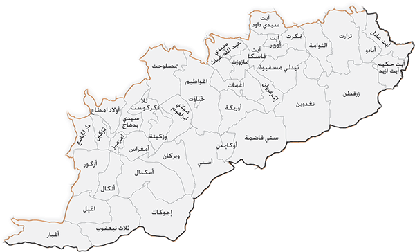 ملف:Map of Al-Haouz Province AR.png