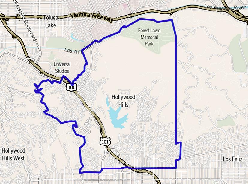 California Map Hollywood.Hollywood Hills Wikipedia