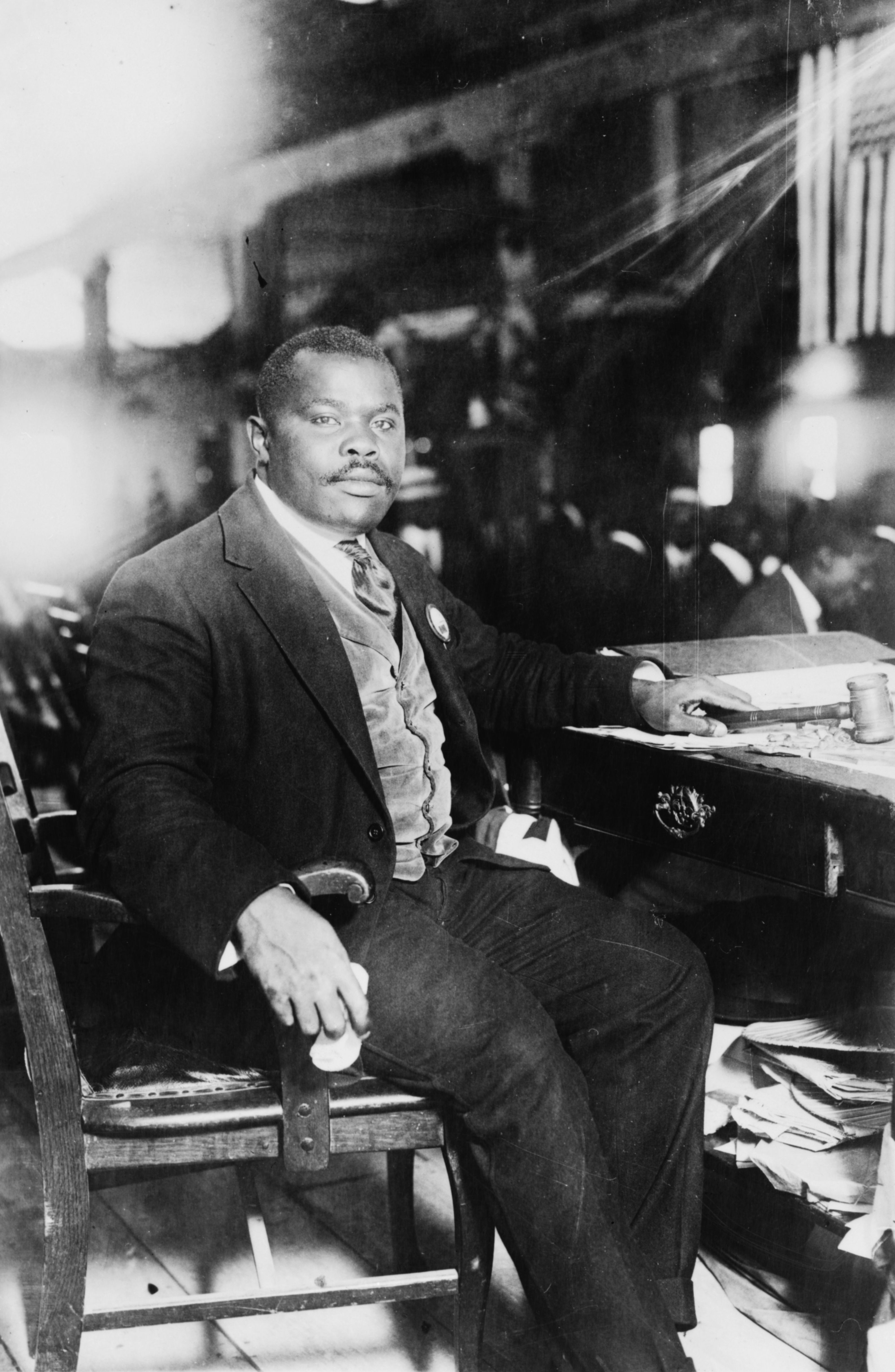 Depiction of Marcus Garvey