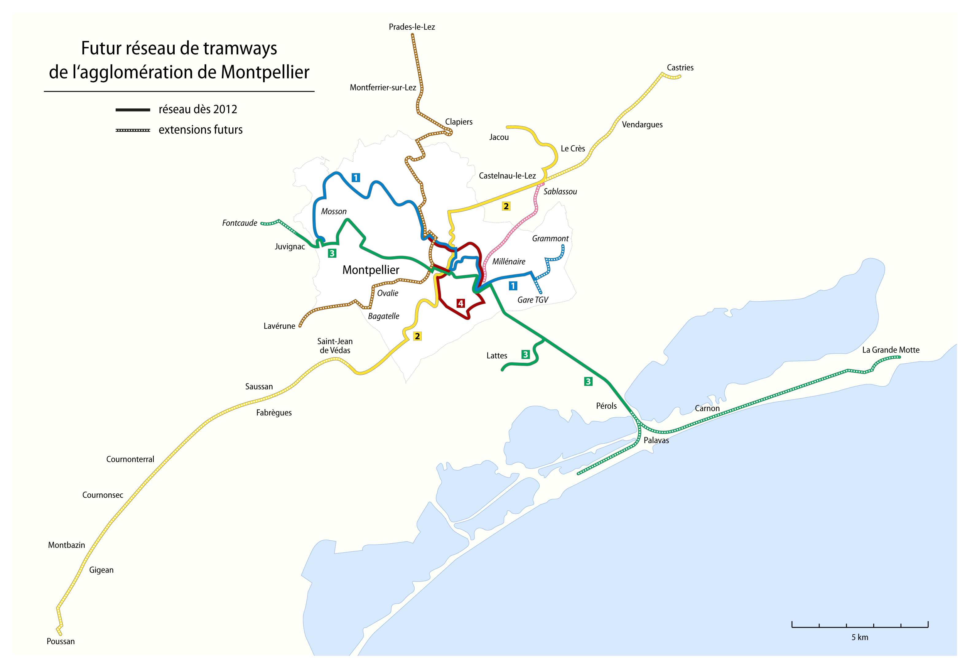 FileMontpellier Map of the future tramway networkpng Wikimedia