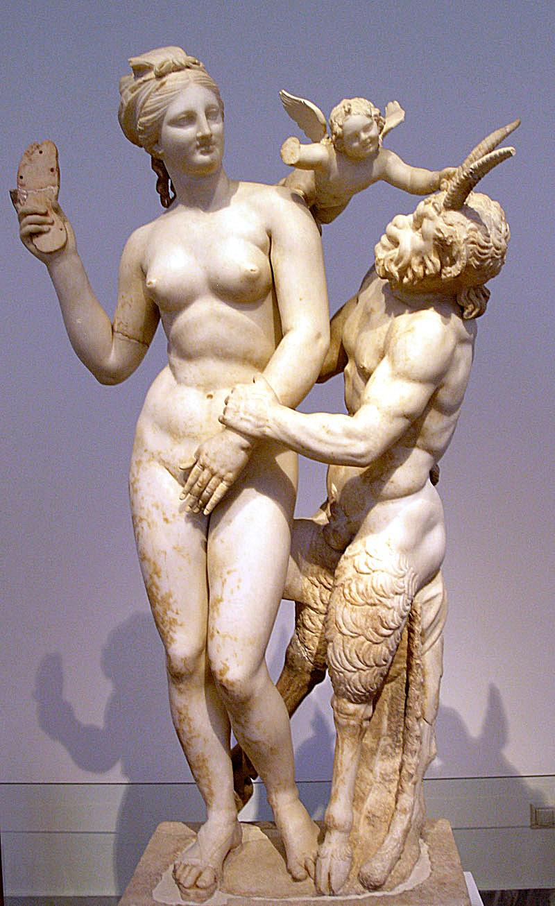 Pan, Aphrodite et Éros.