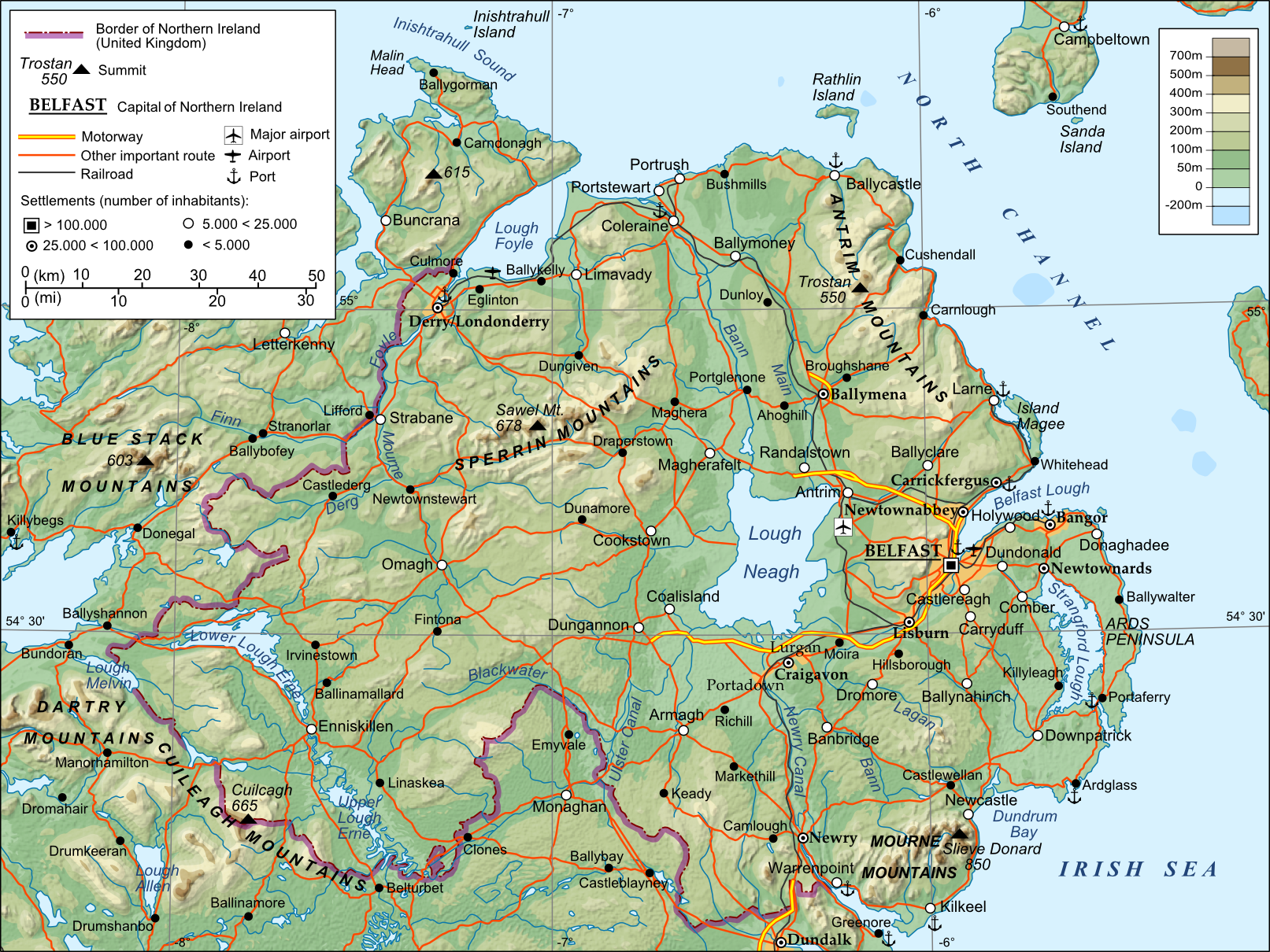 Map Of Rivers In Northern Ireland.File Northern Ireland Png Wikimedia Commons