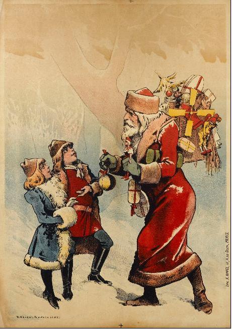 Filepère Noël Et Deux Enfantspng Wikipedia
