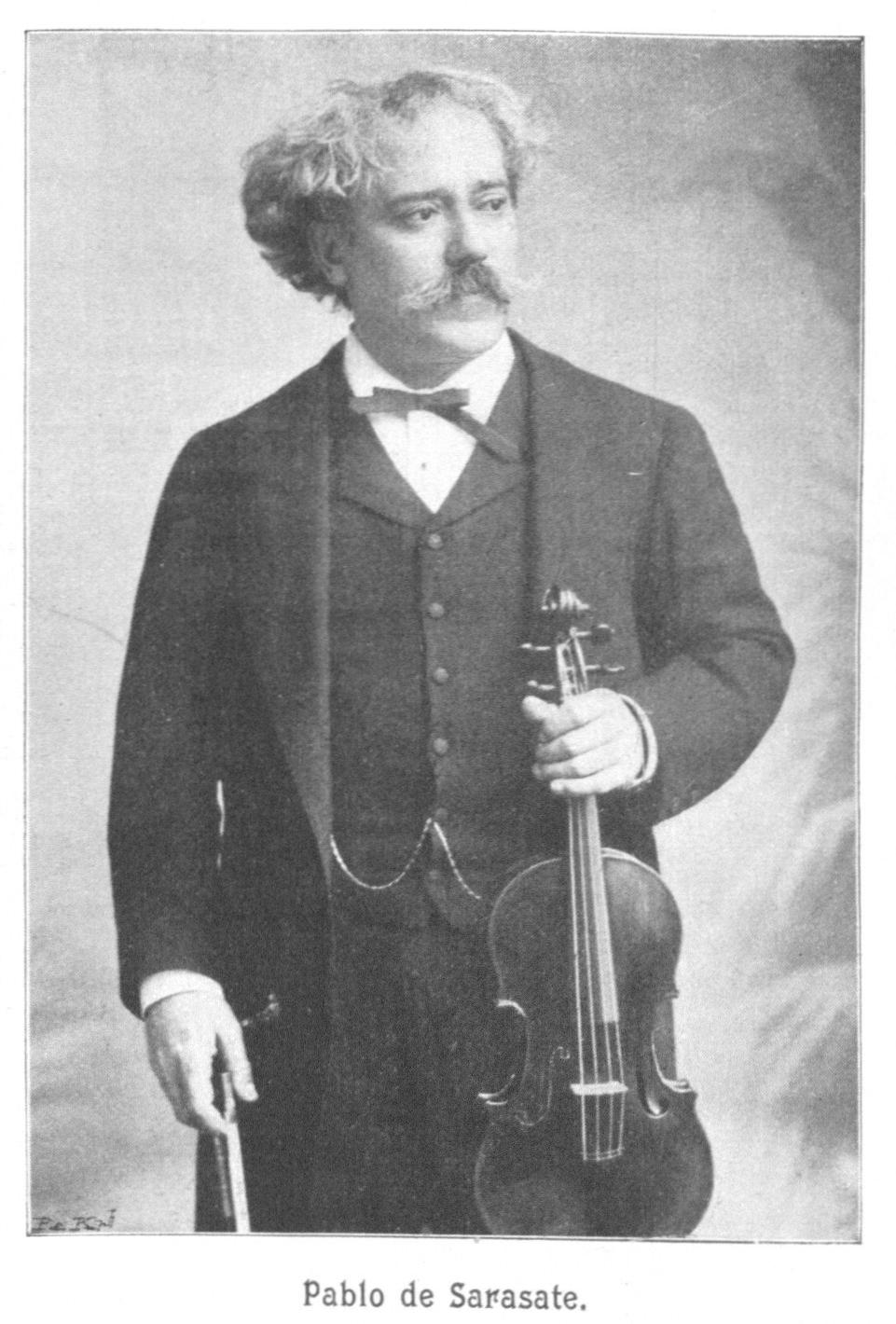 Pablo de Sarasate with violin