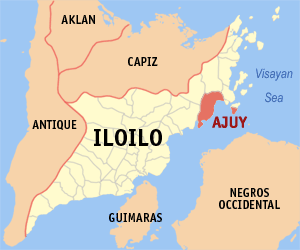 Mapa of Iloilo showing the location of Ajuy