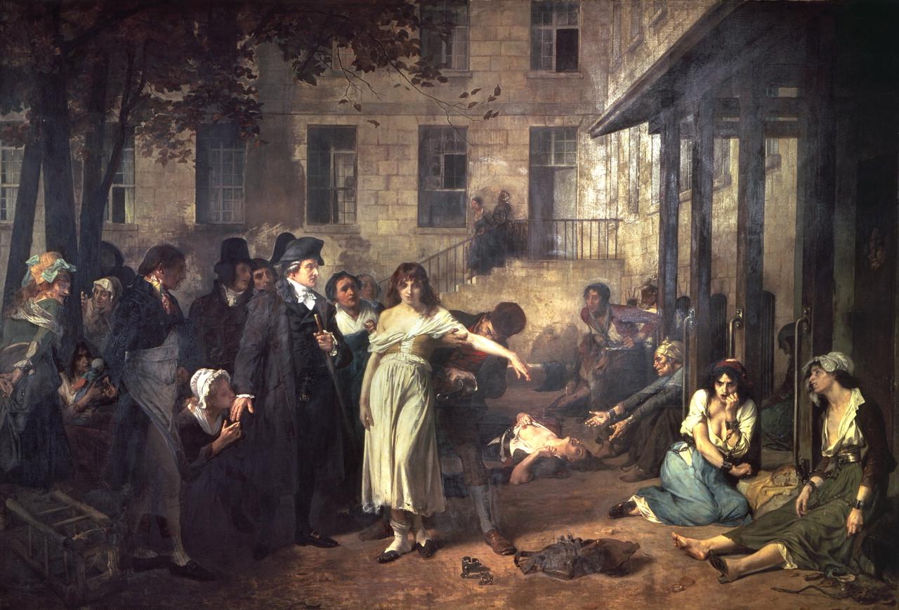 Pinel, médecin en chef de la Salpêtrière en 1795