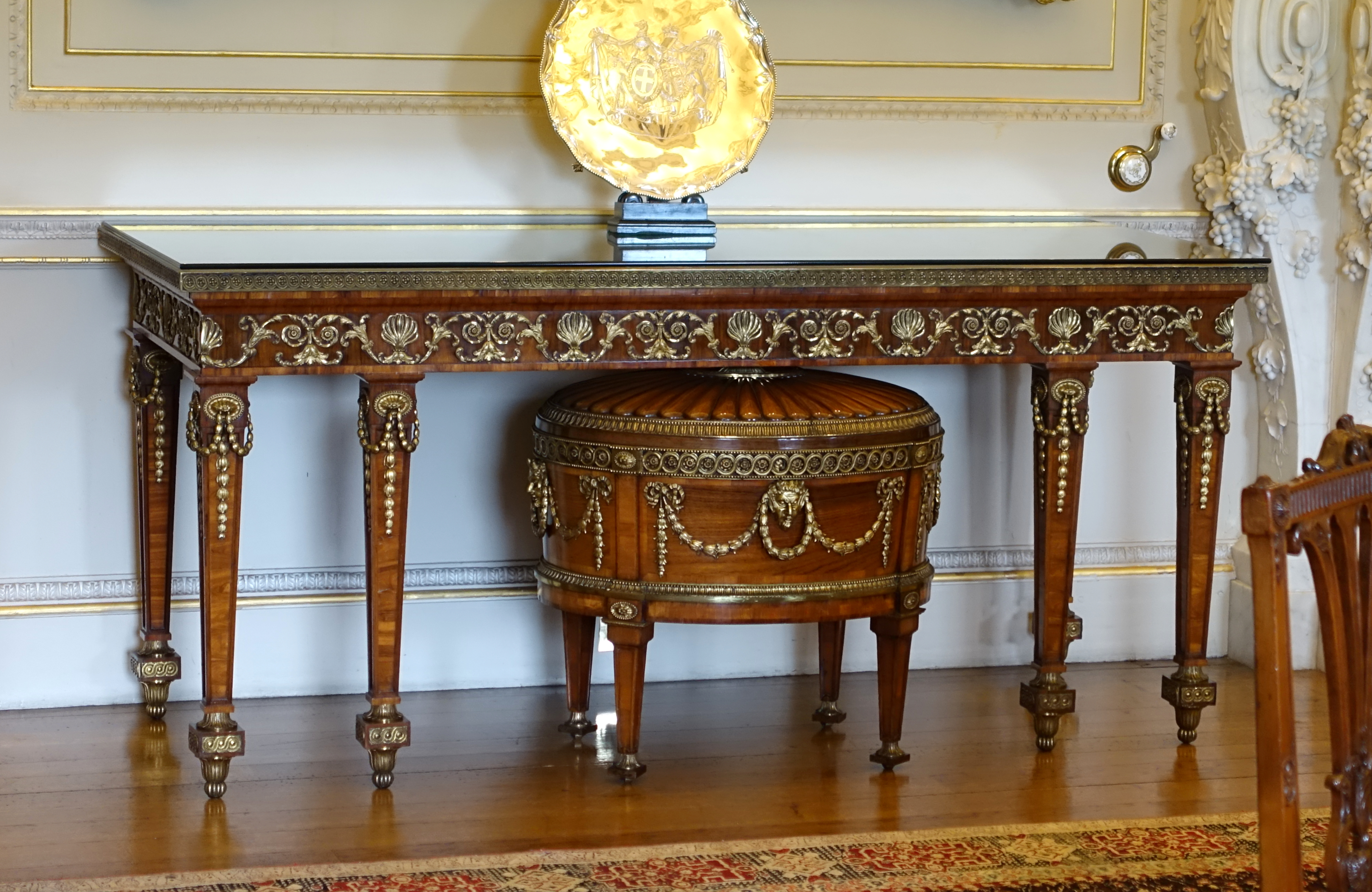 FilePier Table Origin Unknown With Cellaret By Thomas Chippendale C 1771 Rosewood And Ormolu