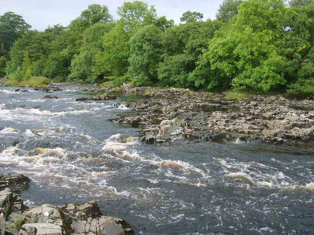 An image of the River Tees, home to the river folklore surrounding Peg Powler