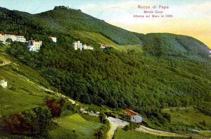 Monte Cavo près de Rome sur une carte postale de 1910.