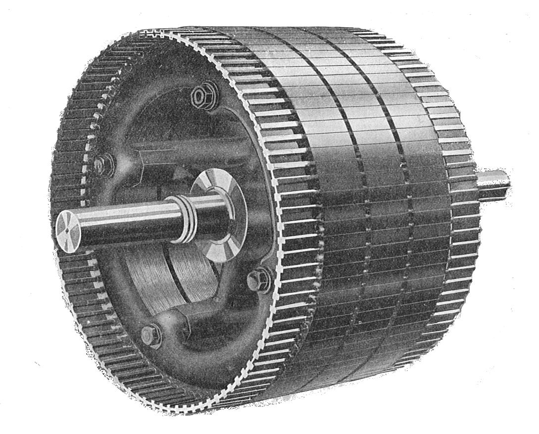 File rotor for squirrel cage induction motor rankin for Picture of electric motor