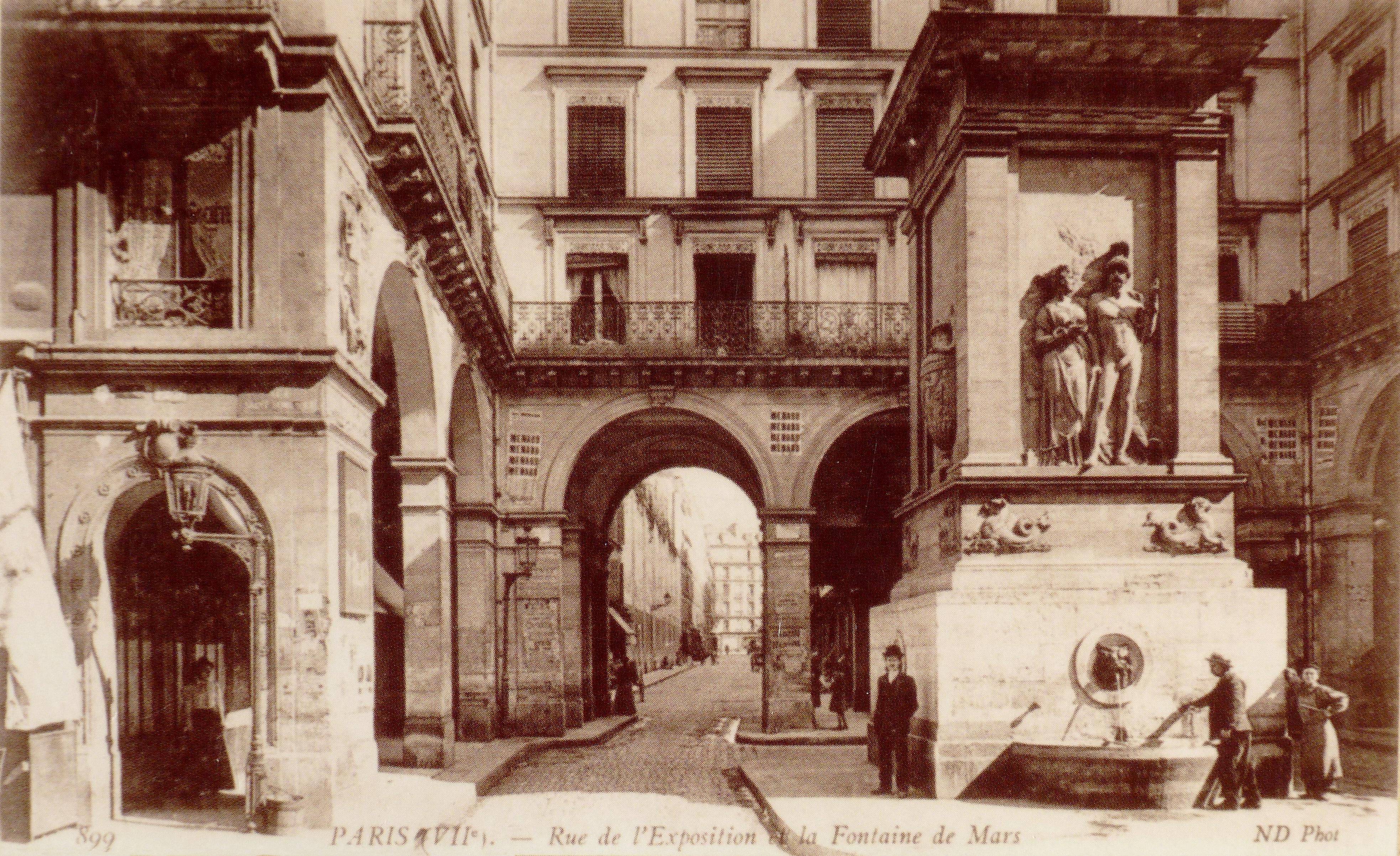 Fichier:Rue de l\'Exposition fontaine de Mars 1900.jpg — Wikipédia