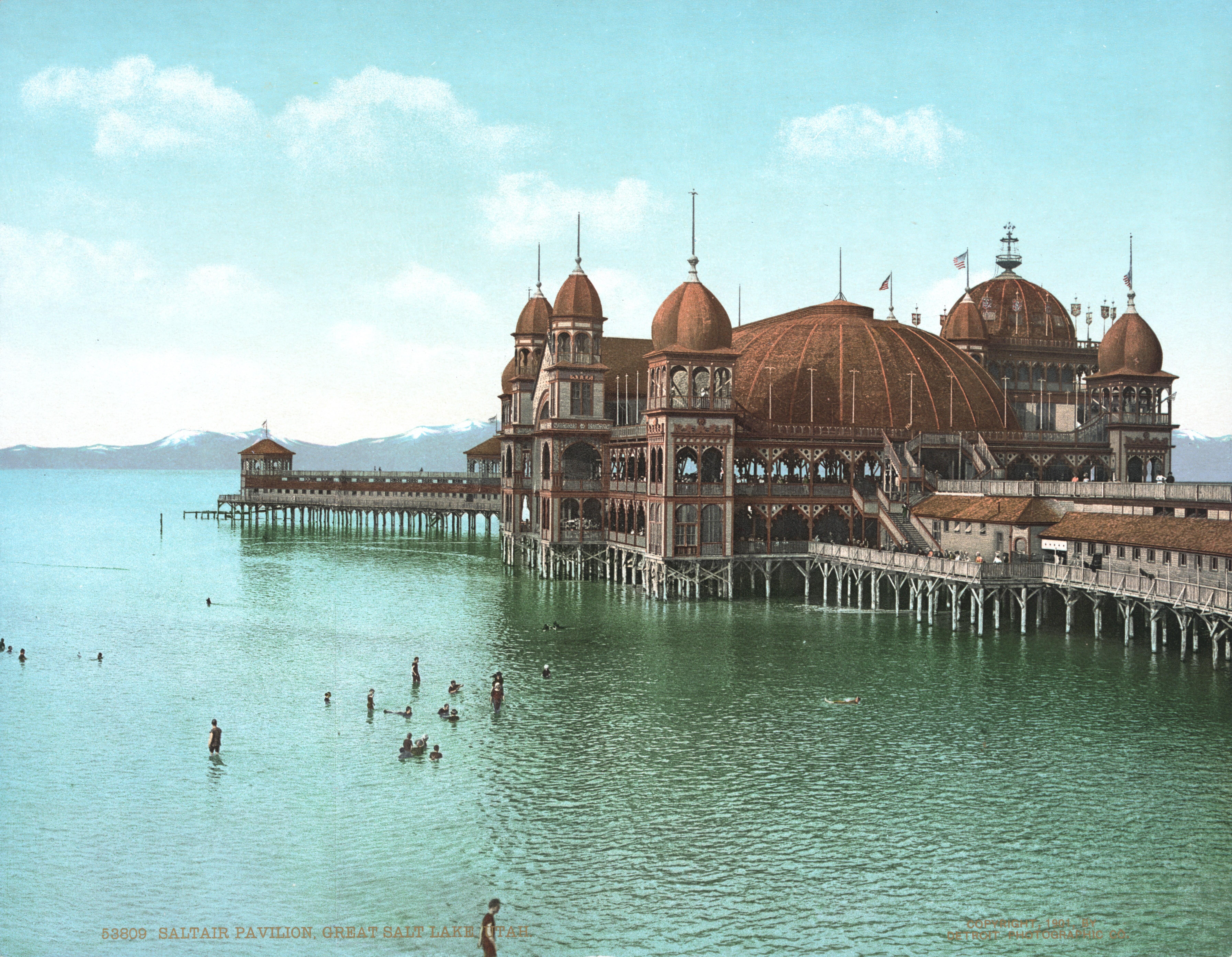 Saltair Pavilion Ca. 1900, Salt Lake City, UT [7199 X 5583]