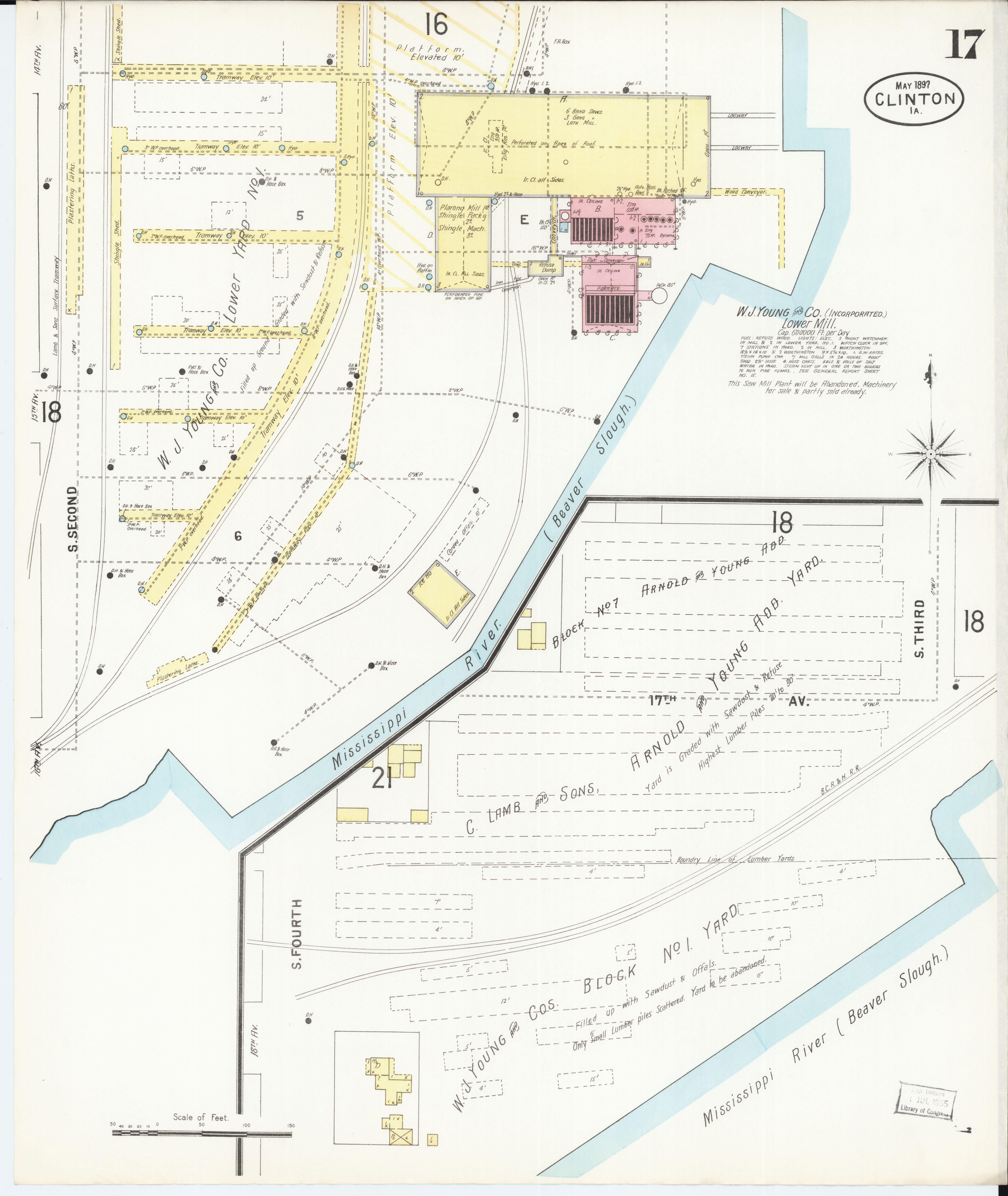 File Sanborn Fire Insurance Map From Clinton Clinton County Iowa