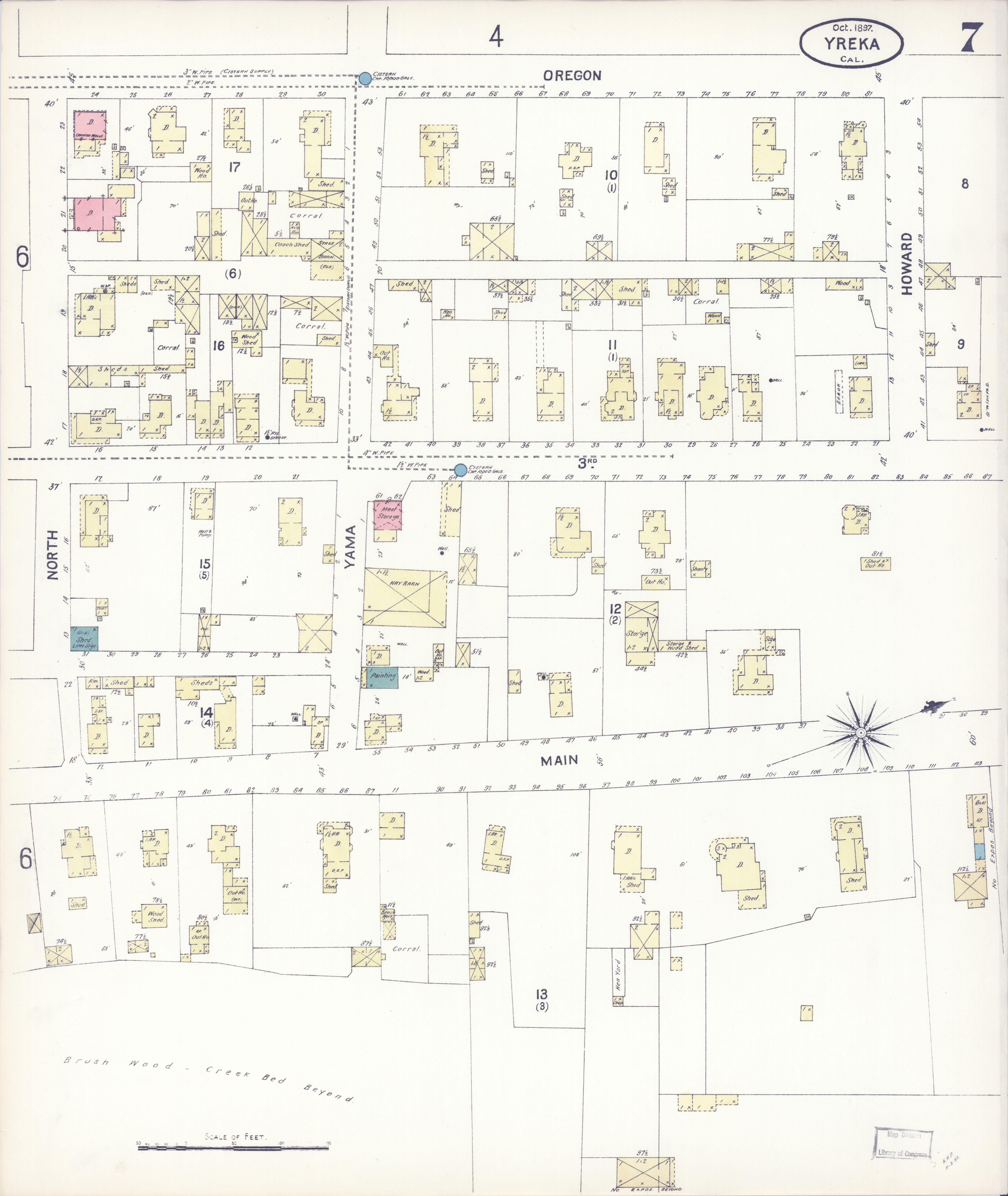 File Sanborn Fire Insurance Map From Yreka Siskiyou County