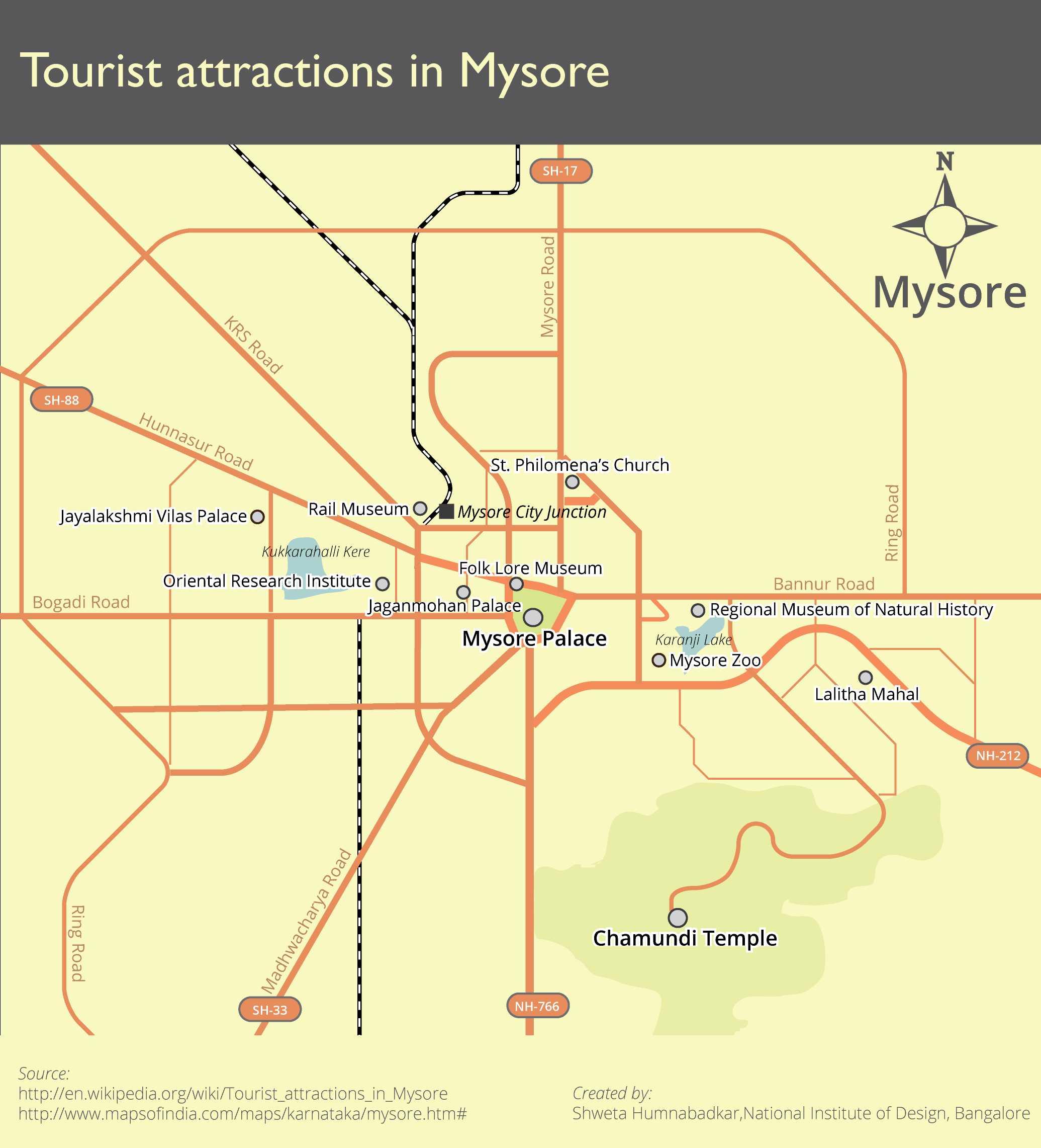 File:Schematic tourist map of Mysore.jpg - Wikimedia Commons