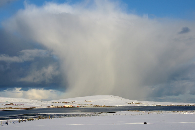 File:Snow shower passing Baltasound - geograph.org.uk - 1725745.jpg