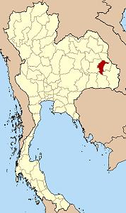ヤソートーン県の位置