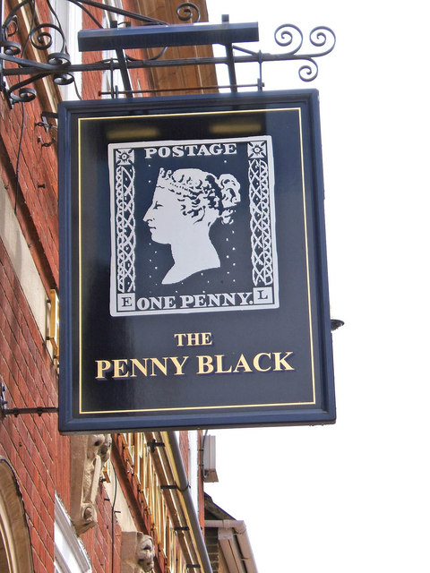 The Penny Black pub sign, 58 Sheep Street - geograph.org.uk - 861101.jpg