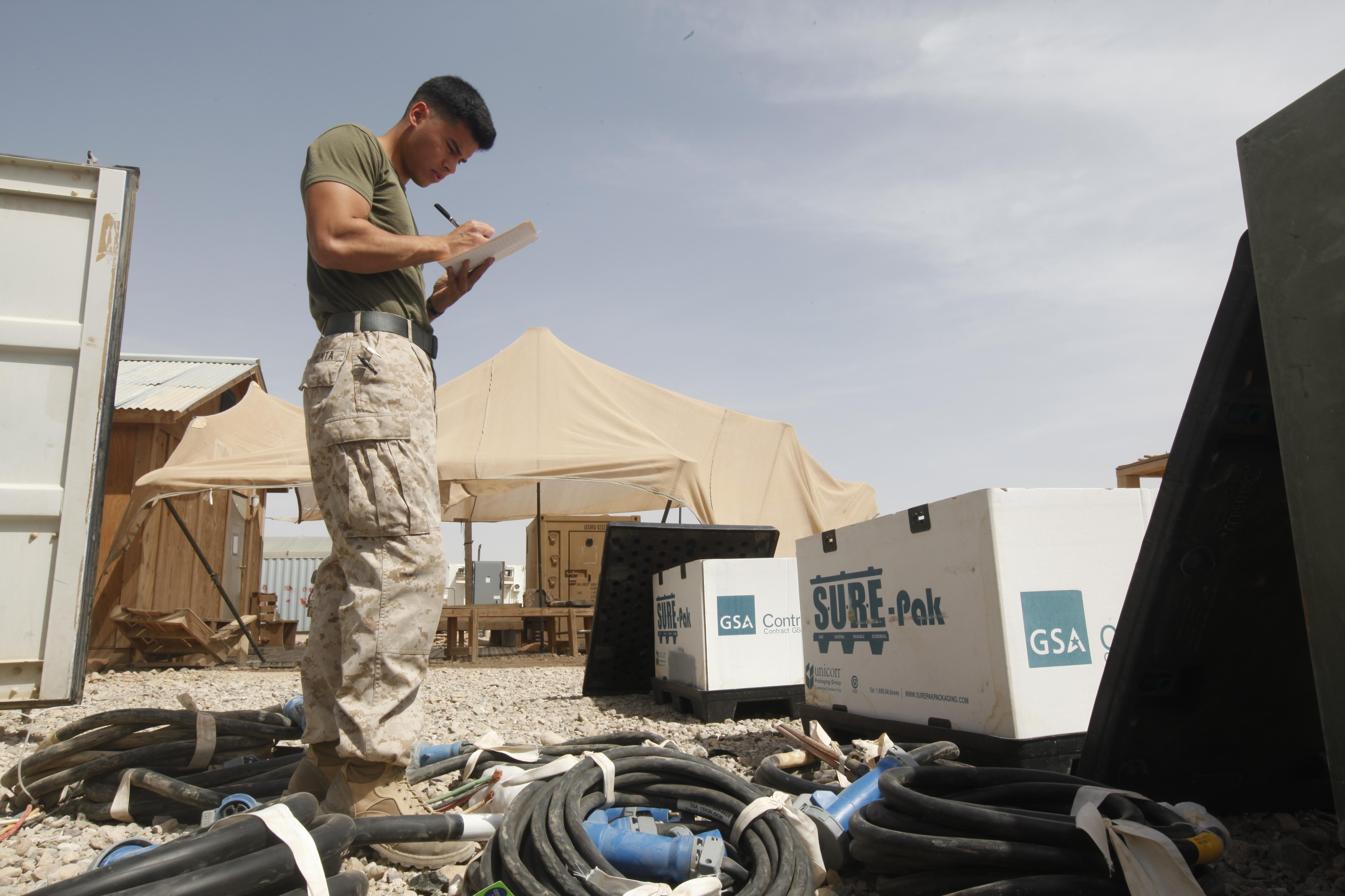 File:U S  Marine Corps Cpl  Caleb P  Armenta, an electrician
