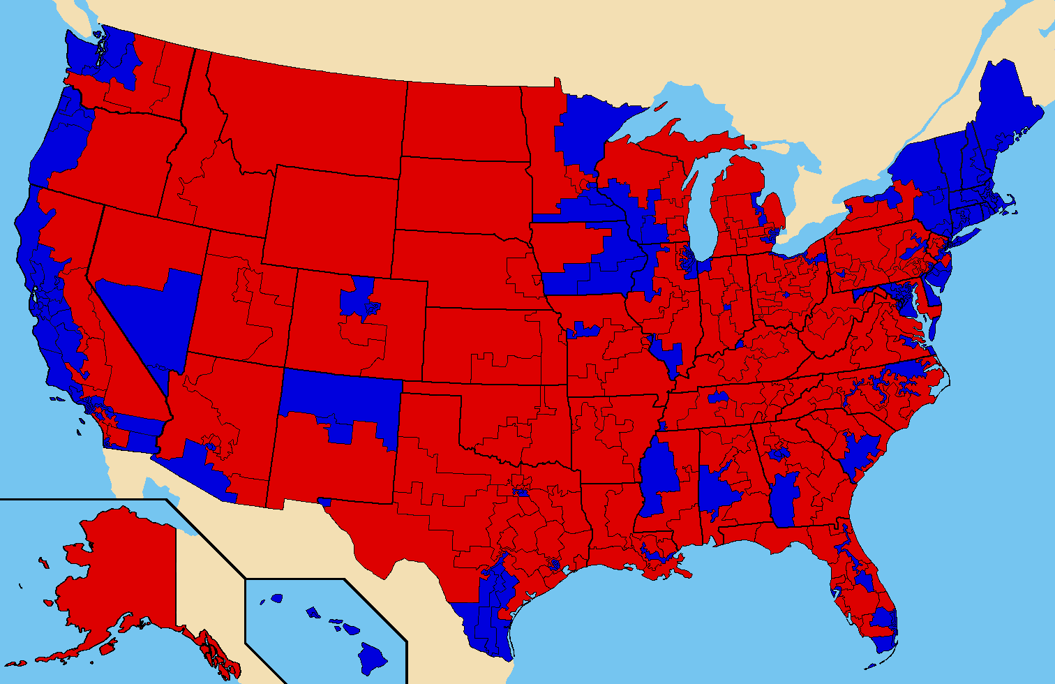 FileUS Congressional District Presidential Electionpng - District map us election 2012