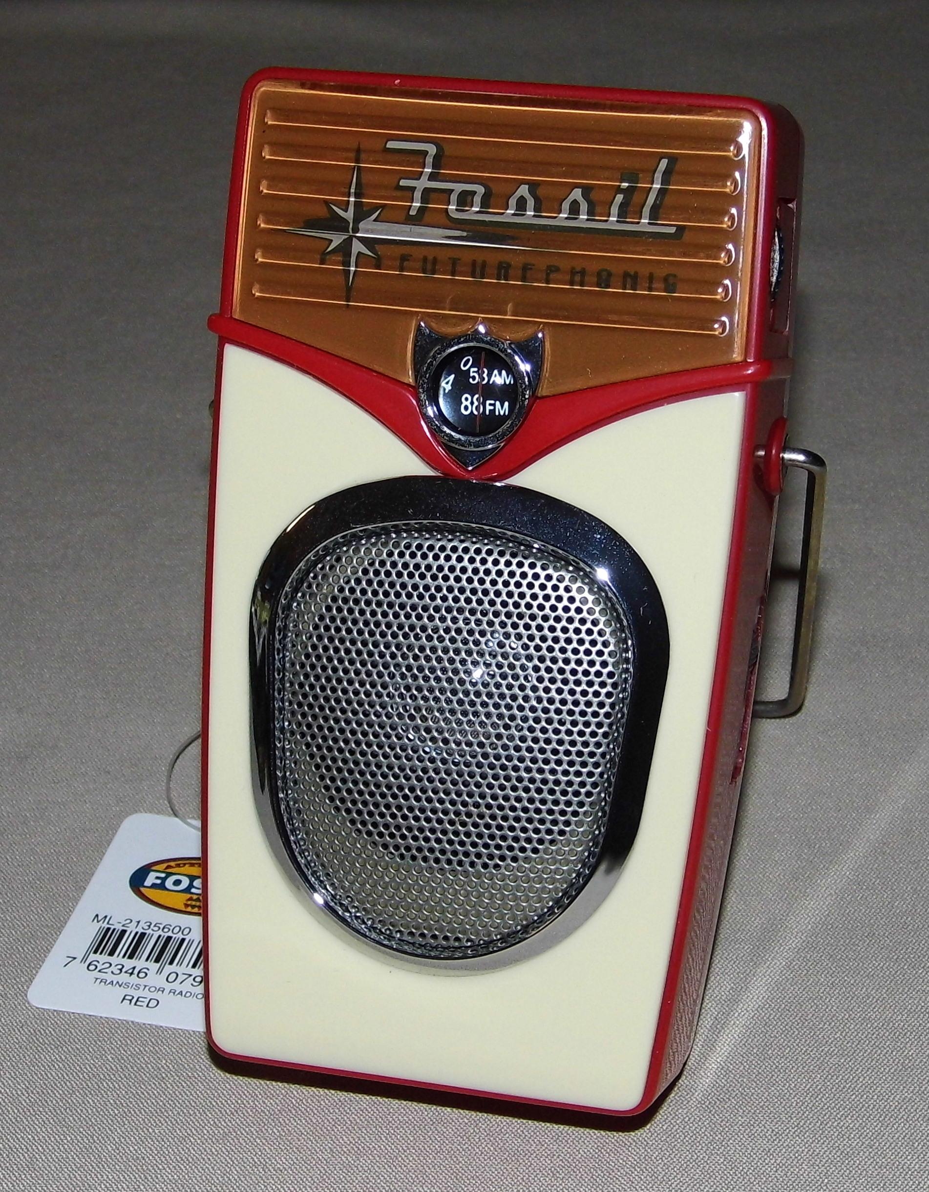 Radio aus Fossilien