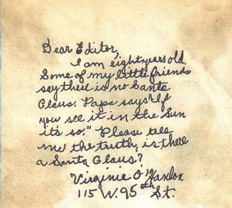 The original letter sent asking about the vera...