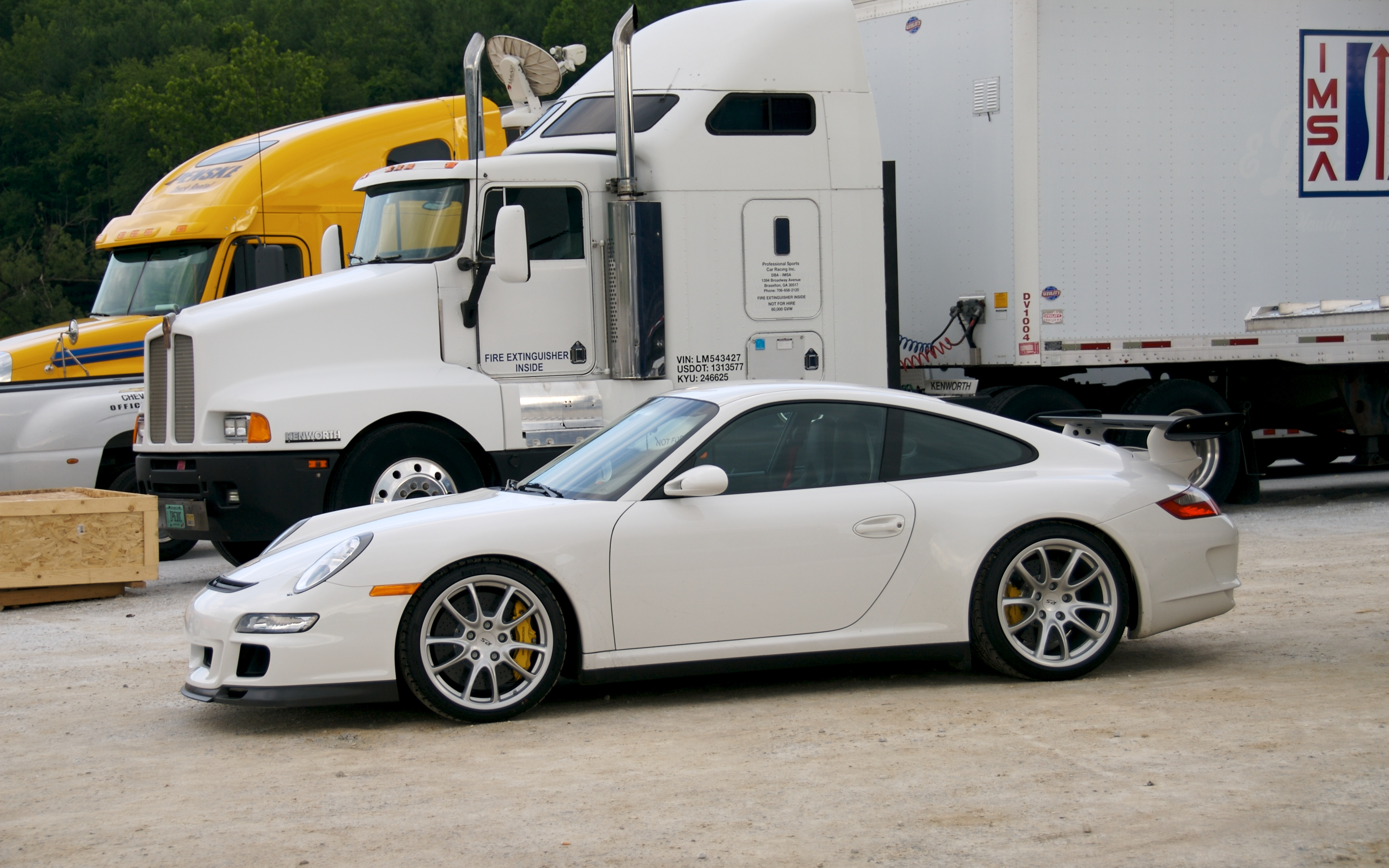File White Porsche 997 Gt3 Rs Spoiler And Pccb Jpg