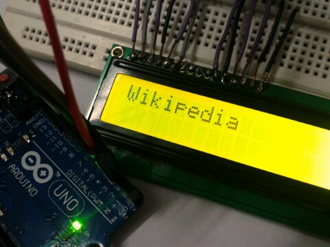 Bluetooth controlled LCD Display