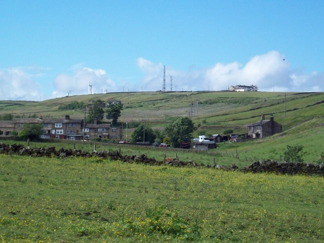 Withens and Ovenden Moor Windfarm, from Calderdale Way - geograph.org.uk - 882338