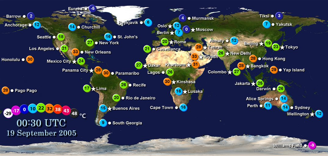 Swann blog: world weather map WORLD WEATHER MAP
