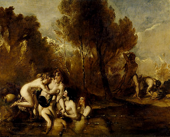 Water Nymphs Painting In Public Domain