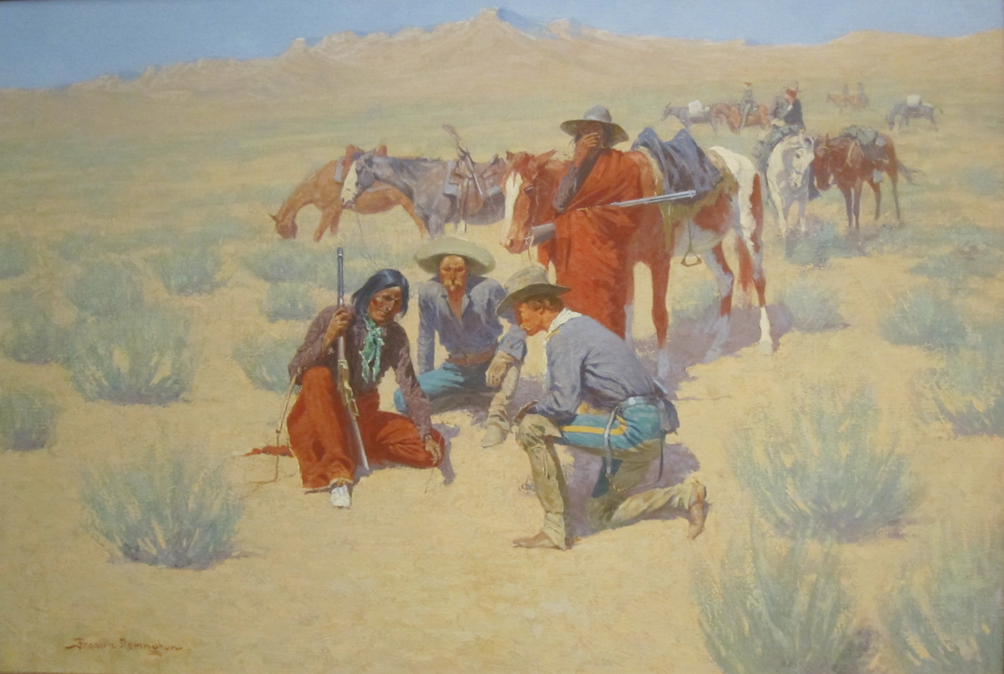 File A Map In The Sand By Frederic Remington Cincinnati
