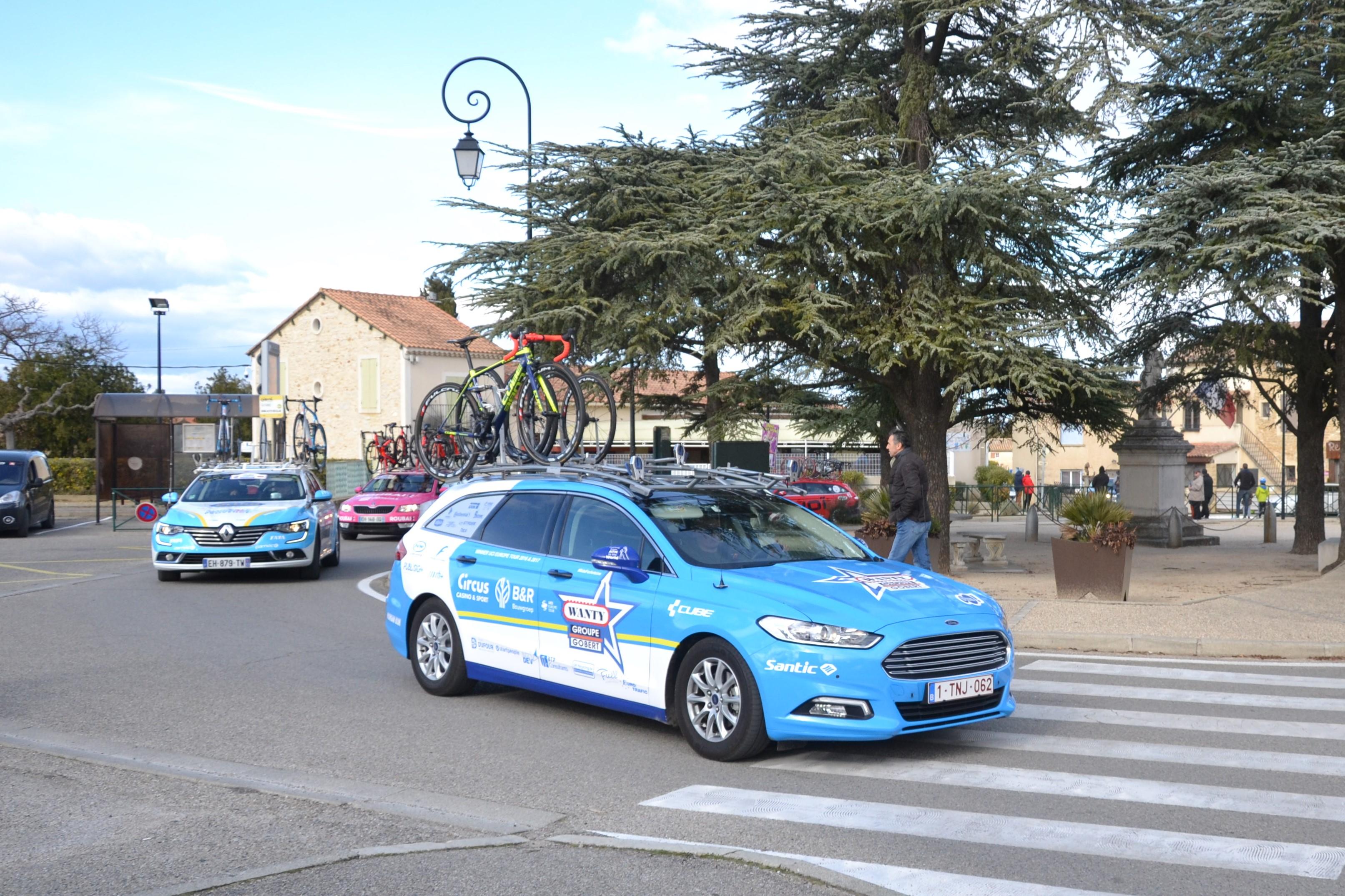 File Étoile de Bessèges 2018 - étape 4 - St Laurent des Arbres - Véhicule Wanty  groupe Gobert.jpg 3f5854ee2