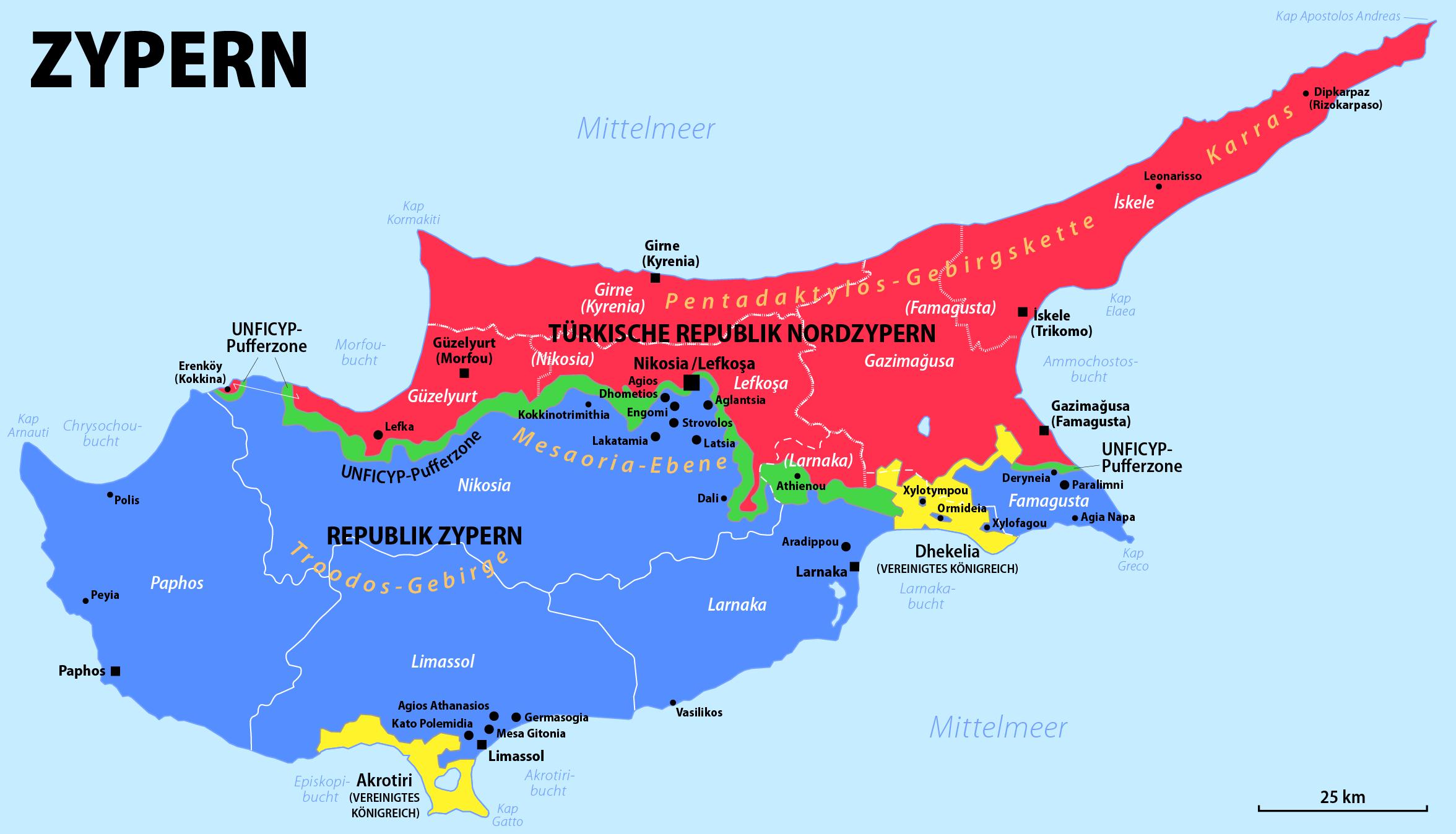 griechenland zypern karte Zypernkonflikt – Wikipedia