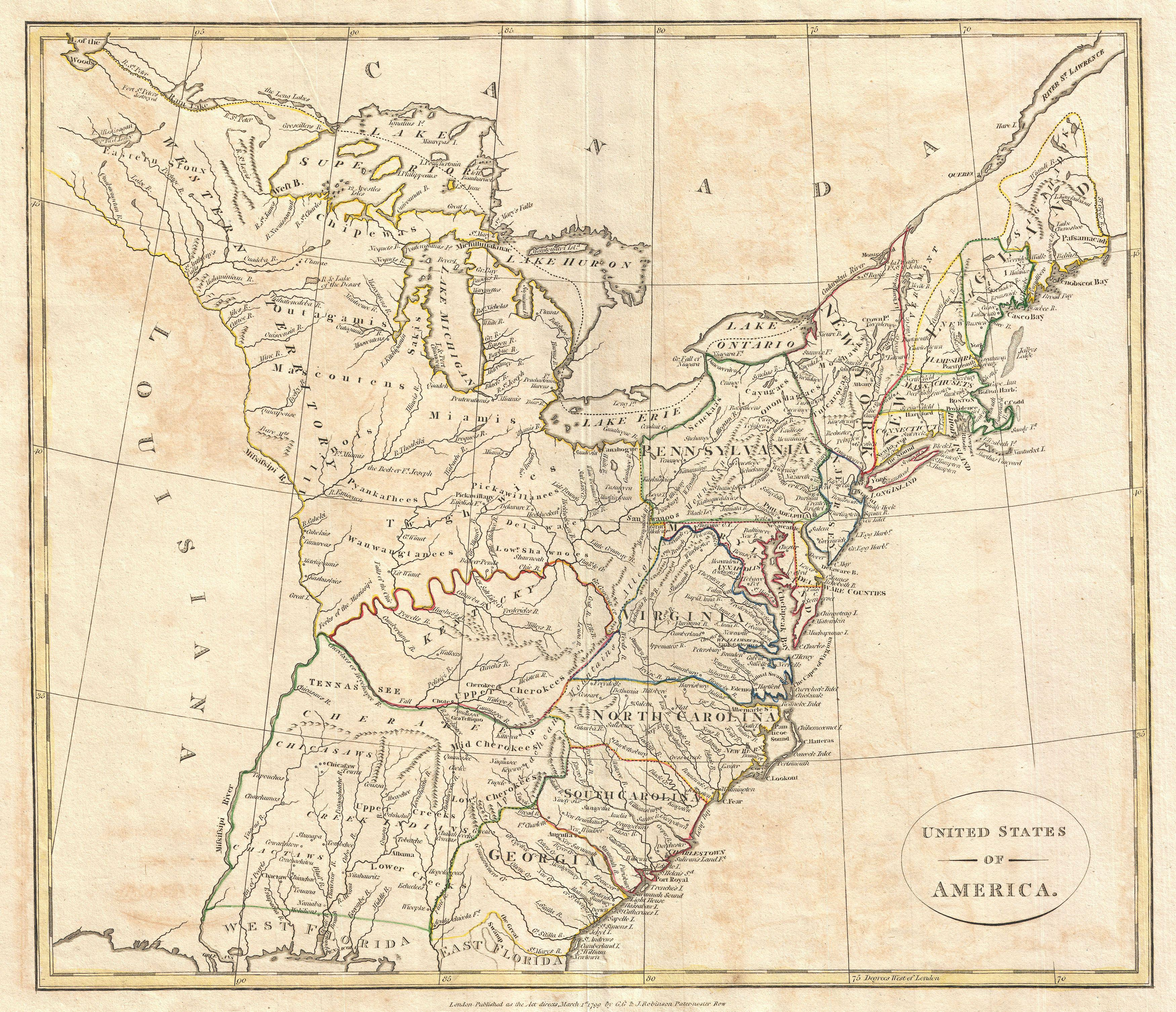 File Cruttwell Map Of The United States Of America - Us map 1799
