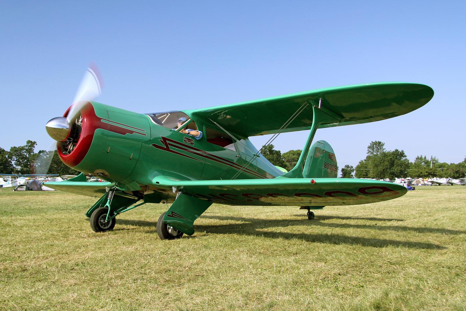 File 1946 Beech G17s Staggerwing N80309 Jpg Wikimedia