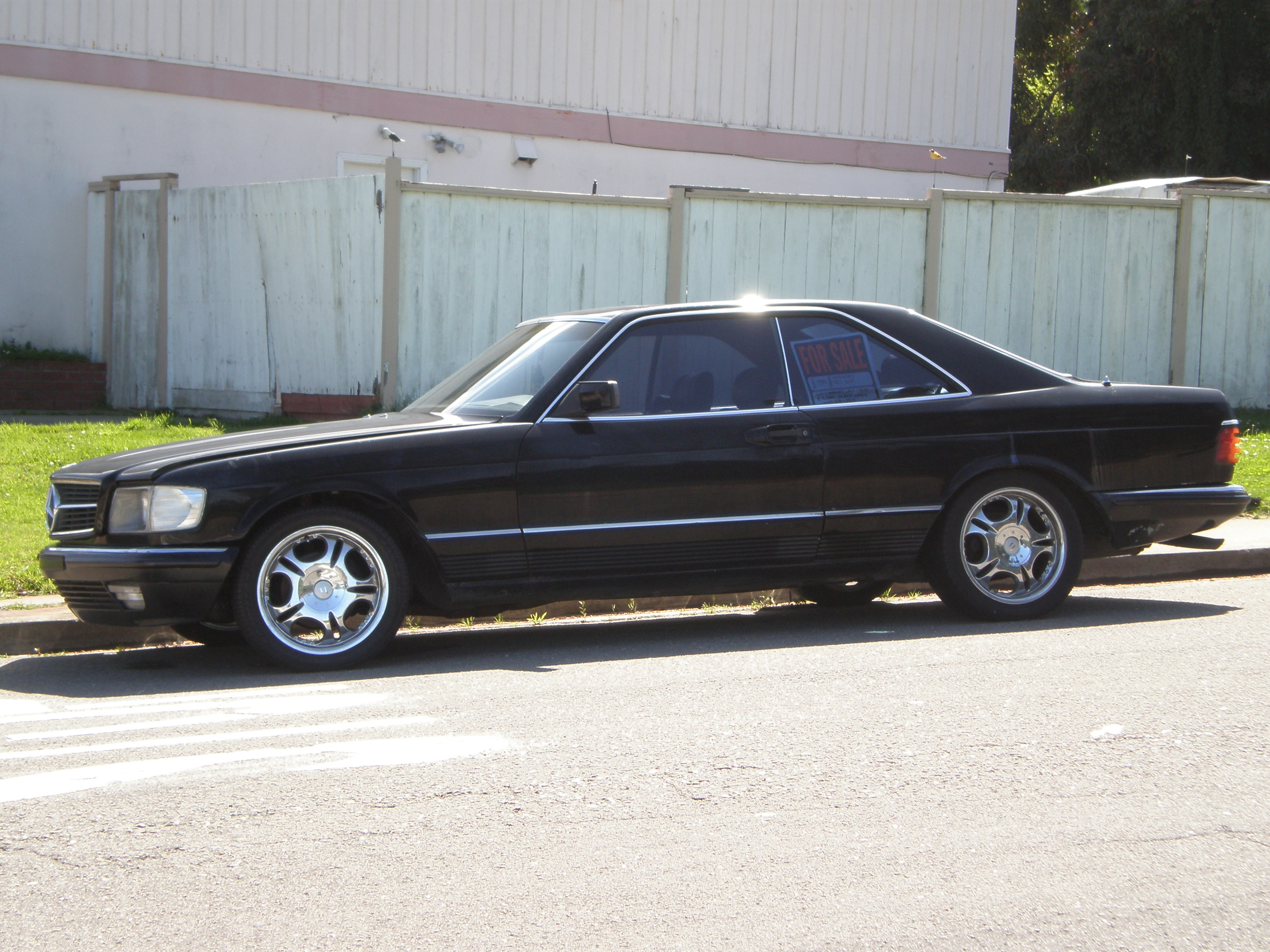 File 1984 Black Mercedes Sec 500 Left Side Jpg Wikimedia