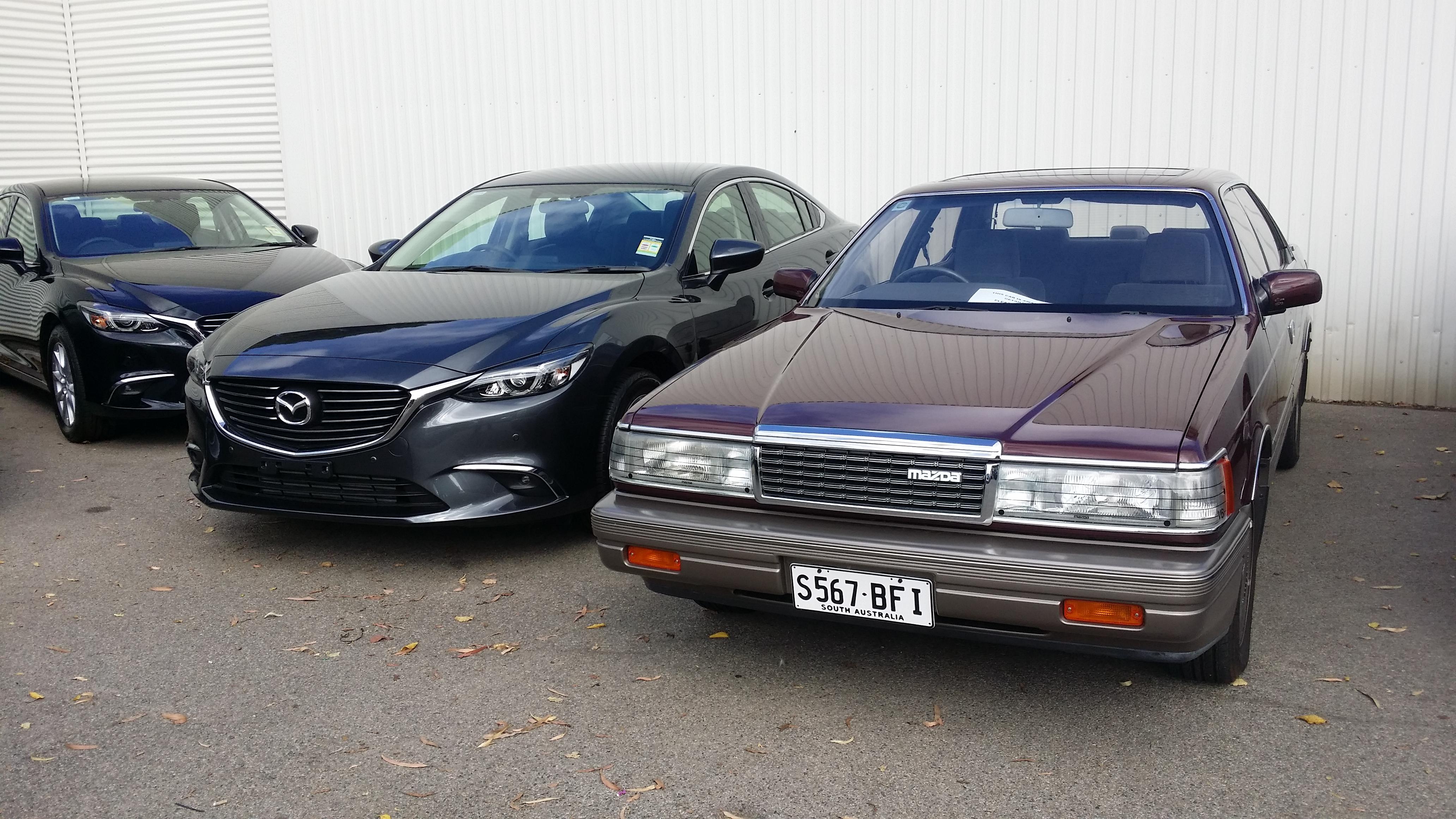 File:2015 Mazda 6 Touring 2.5L V's 1990 Mazda 929 V6i (16651312078).jpg - Wikimedia Commons