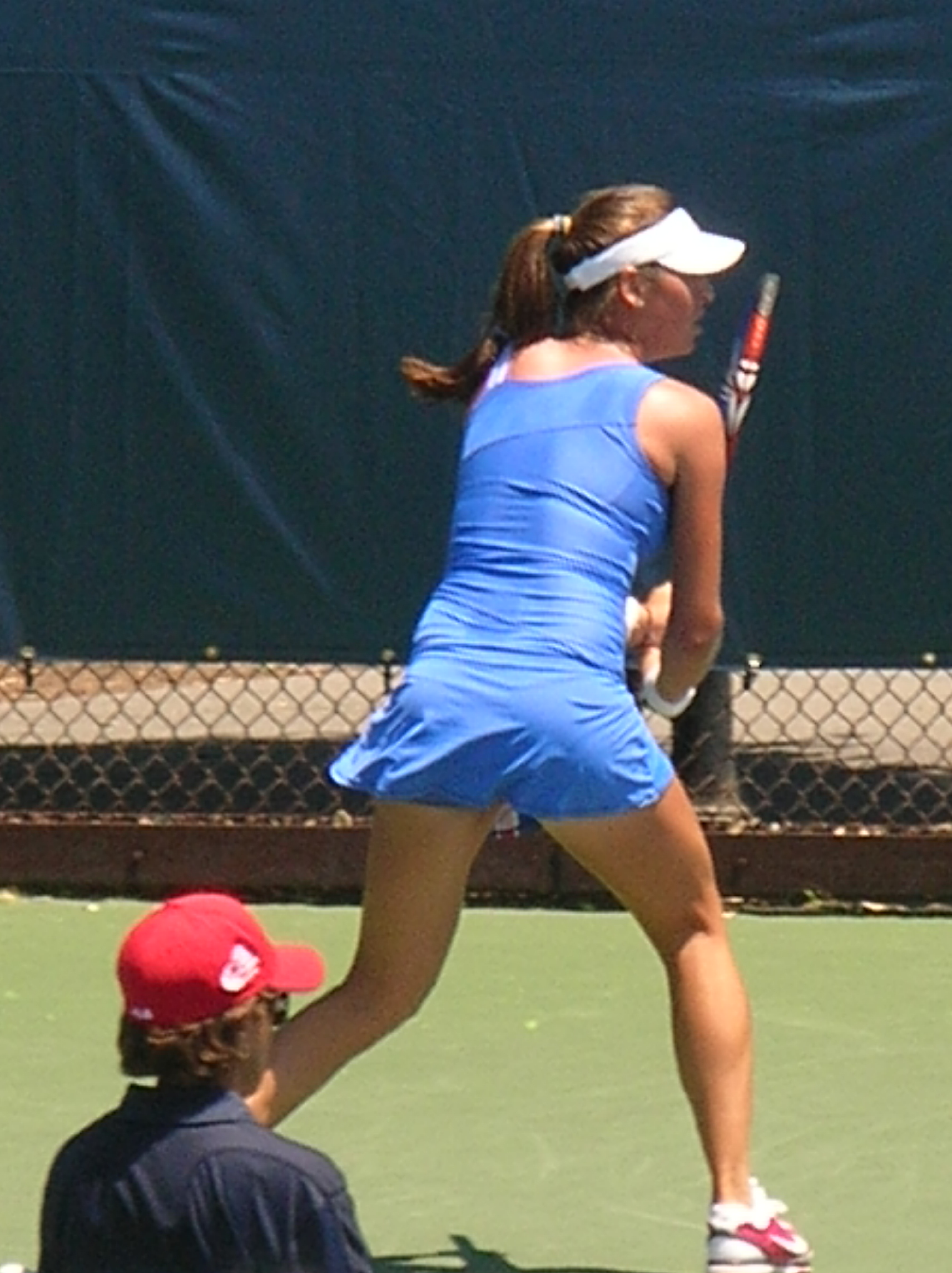 File:Ajla Tomljanović at Bank of the West Classic qualifying 2010-07-25