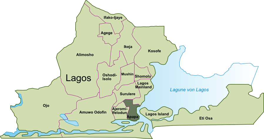 Map Of Lagos Island West