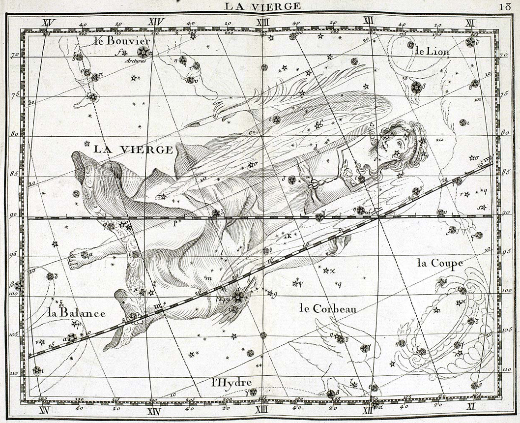 An image of Virgo by John Flamsteed.
