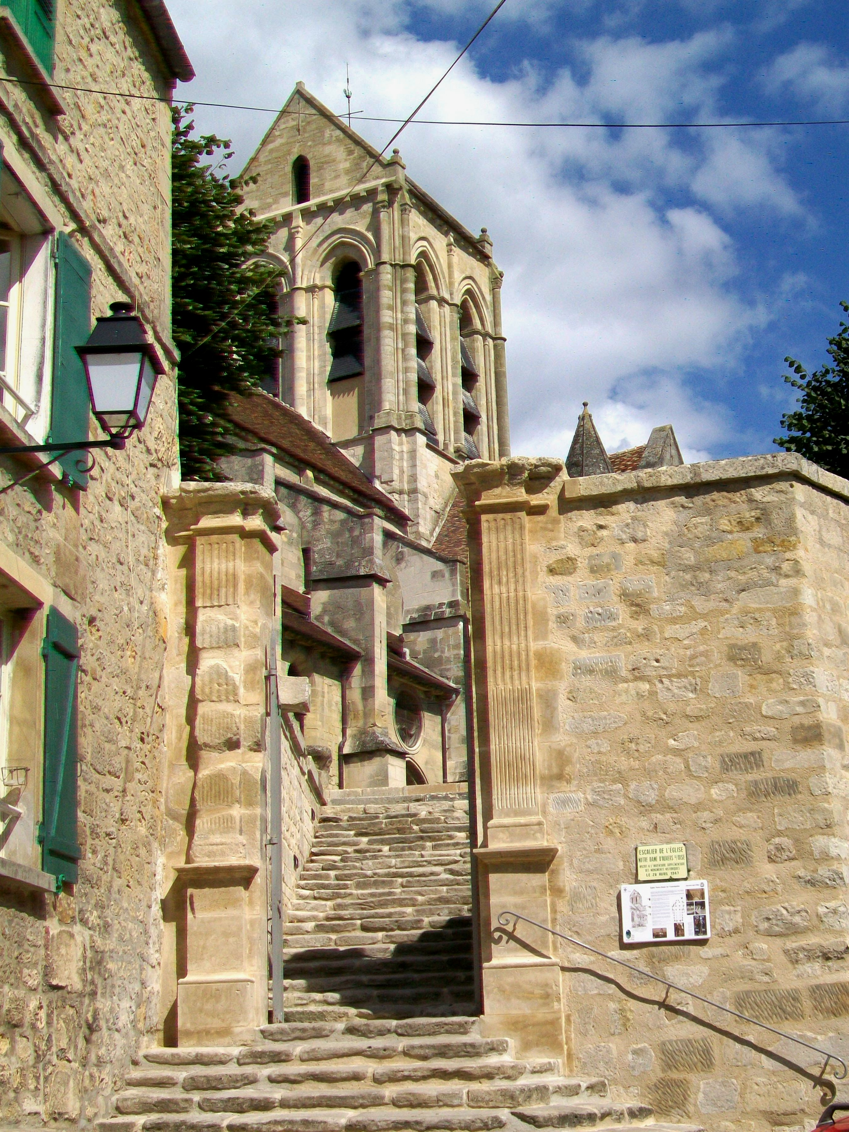 Escalier Val D Oise fichier:auvers-sur-oise (95), église notre-dame, escalier de