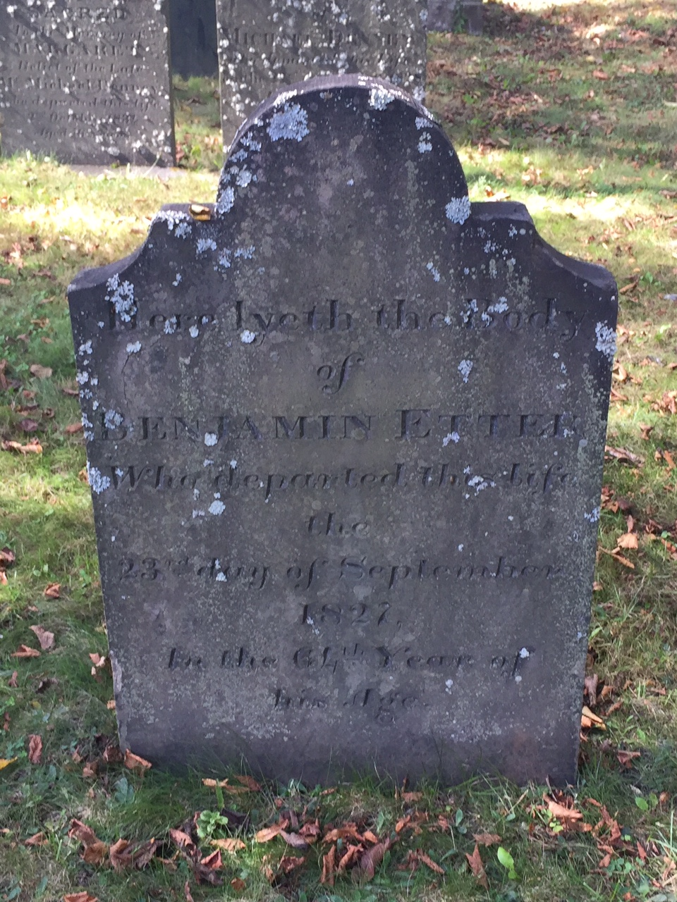Benjamin Etter C Old Burying Ground C Halifax C Nova Scotia